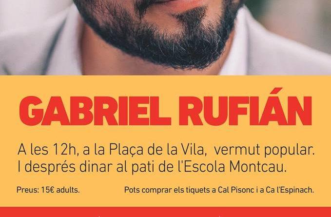 GABRIEL RUFIÁN OFERIRÀ UNA XERRADA A GELIDA