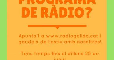 A Ràdio Gelida preparem la nova temporada d'estiu…. T'hi apuntes?