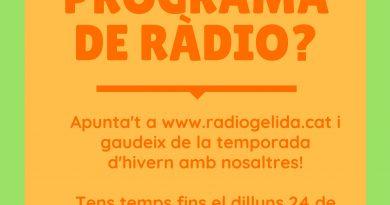 A Ràdio Gelida preparem nova temporada d'hivern…. T'hi apuntes?