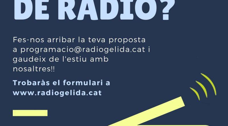 vols fer programa de ràdio