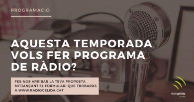 A Ràdio Gelida, t'hi esperem!