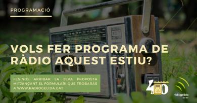 Vols fer programa de ràdio aquest estiu?