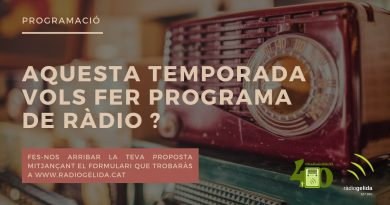 Aquesta temporada vols fer programa de ràdio?